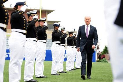 Vice President Joe Biden at the 2013 Coast Guard Academy commencement. U.S. Coast Guard photo by Petty Officer 2nd Class Patrick Kelley.