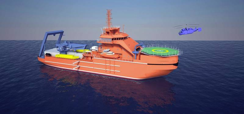 Visualisation of the Multipurpose Rescue and Salvage Vessel