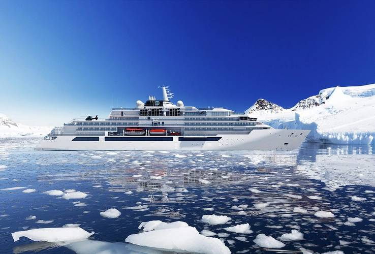 Visualization of the expedition yacht Crystal Endeavor (Image: MV Werften)