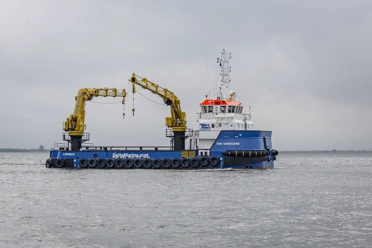 Voe Vanguard, the first vessel of Damen's RSV 3315 series (Photo: Damen)