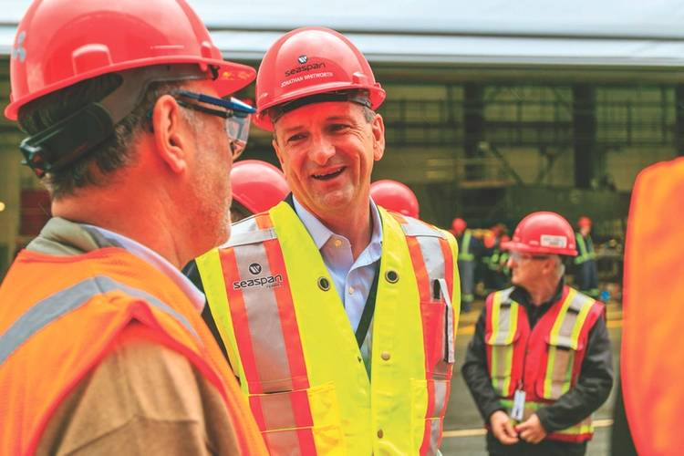 """Why would a company that owns a shipyard not build them here? [because] Our plate is full."" -Jonathan Whitworth, SeaSpan CEO (Photo: Seaspan)"