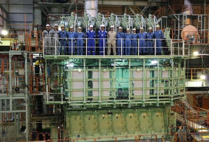World's first two-stroke low-speed triple fuel ME-GIE engine completed  at Mitsui's Tamano Works (MAN Diesel & Turbo)