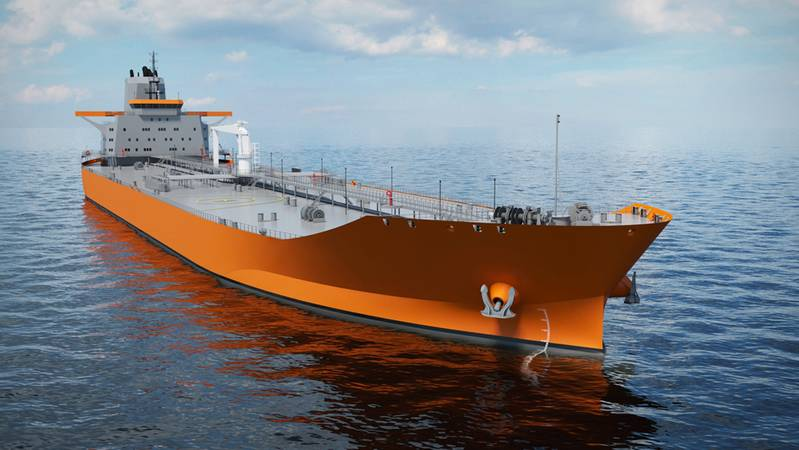 Wärtsilä's New Aframax Tanker Design  emphasizes energy efficiency. It features an optimized hull form to minimize resistance, and an optimized propulsion train with energy saving devices (ESDs) for greater efficiency. Fuel savings have been the primary focus during the development of this design..