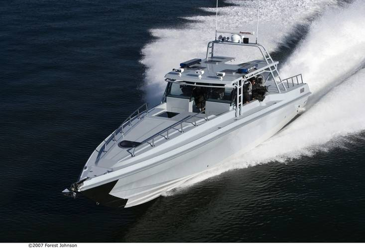 Yacht and pleasure craft work is balanced with military craft jobs. Image Courtesy Ocean 5 Naval Architects.