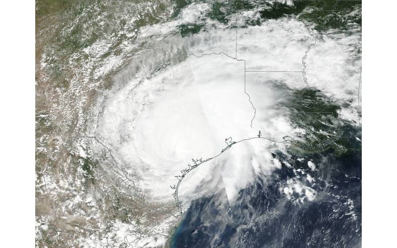 On August 26 NASA-NOAA's Suomi NPP satellite captured a visible image of Tropical Storm Harvey over Texas. (Credit: NOAA/NASA Goddard Rapid Response Team)