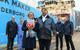 Godmother Rikke Eskjær and Olav Nakken, CEO of Kleven verft A/S after naming sereminy and delivery of Mærsk Maker. Photo: Olav Thokle - Fotomaritim