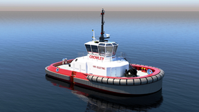 Crowley Completes First U.S. Design for Fully Electric Tug