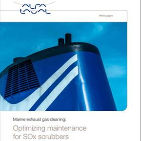 Optimizing maintenance for SOx scrubbers