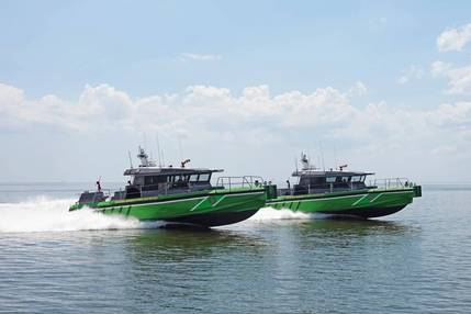 Metal Shark Delivers Two Fireboats to Miami-Dade Fire Rescue